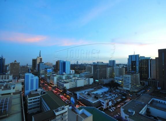 Nairobi city at Dusk