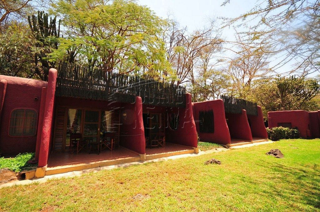 Amboseli Serena Lodge rooms designed like traditional African huts
