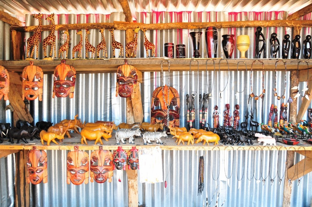A curio shop at the Great Rift Valley View Point
