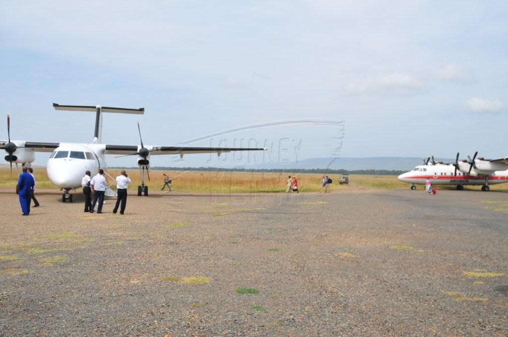 An airstrip in Maasai Mara