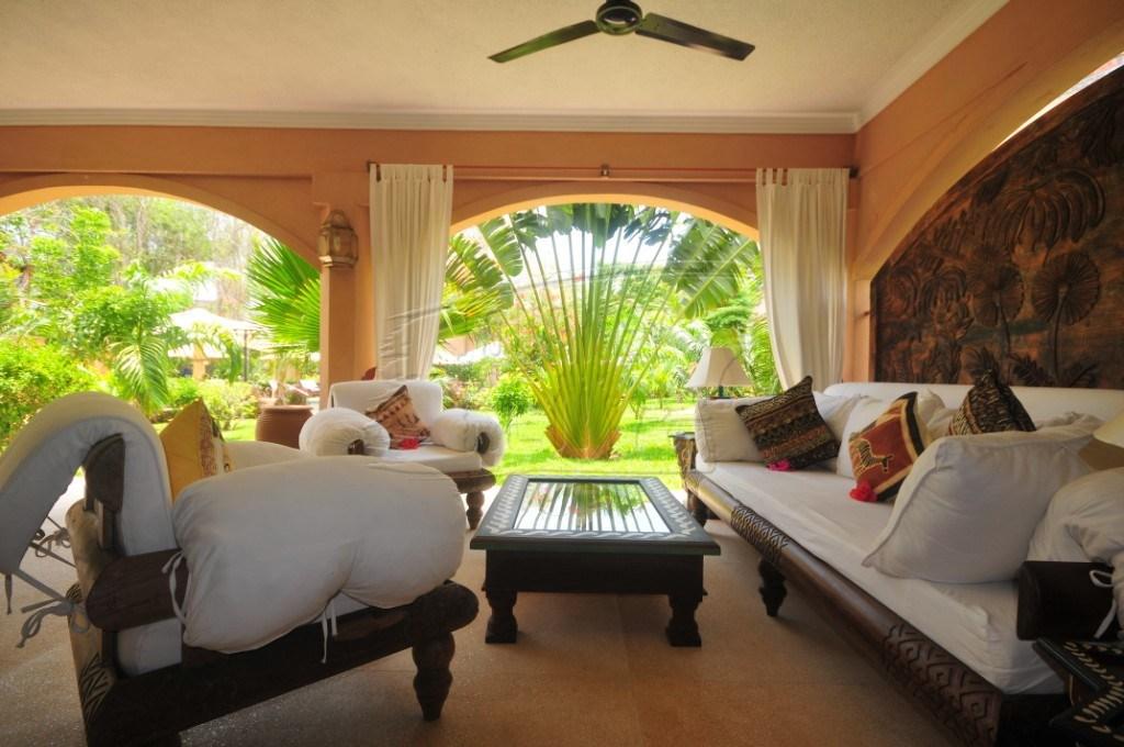 A luxury lounge at Almanara Resort