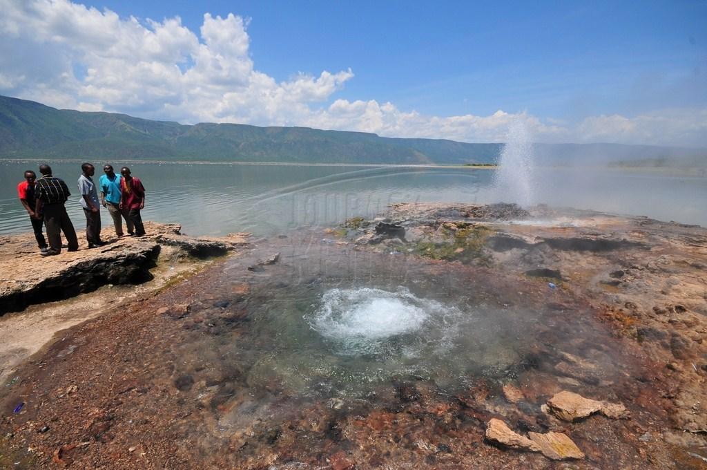 Geysers in Lake Bogoria