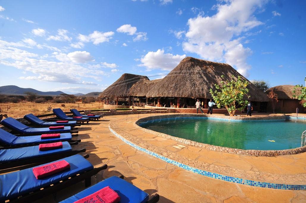 A swimming pool at Samburu Sopa Lodge