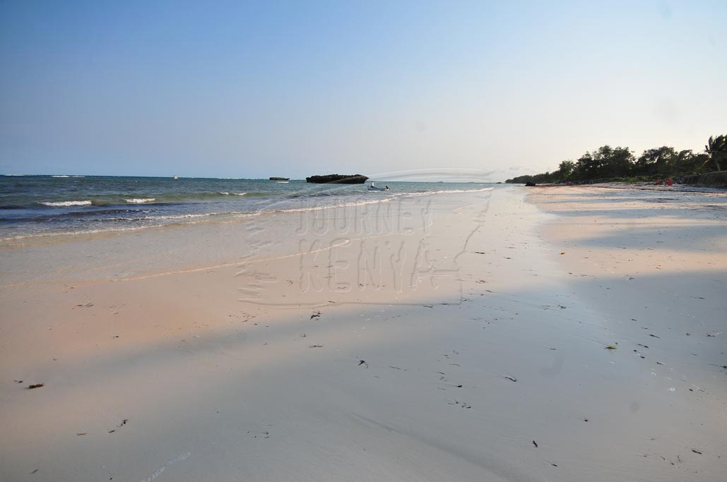 The pristine coast of Kenya