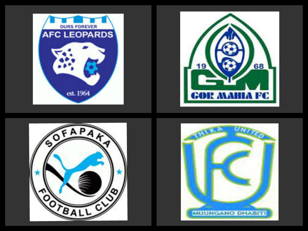 Logos of major football clubs in Kenya