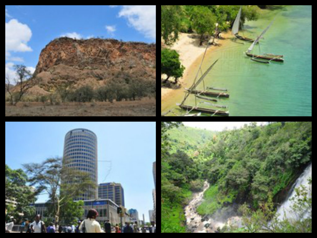 Kenya's major tourist destinations