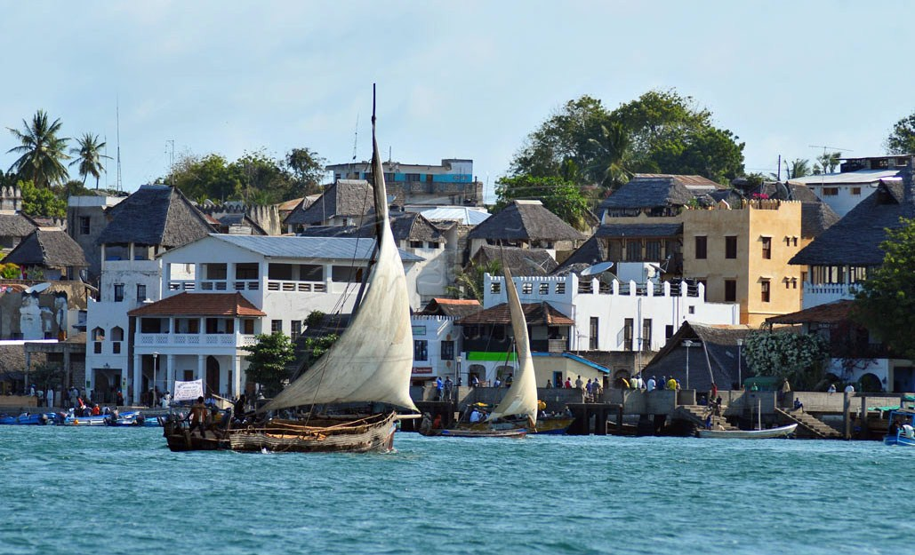 Swahili-style buildings welcome you to Lamu Town
