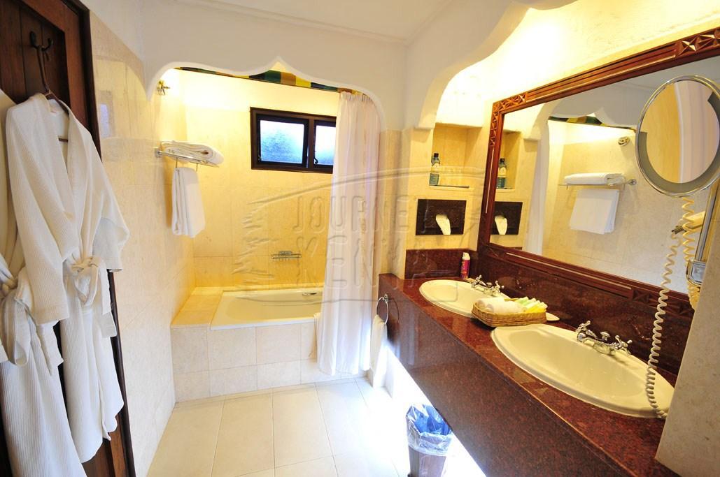 A spacious bathroom at Serena Beach Resort and Spa in Mombasa