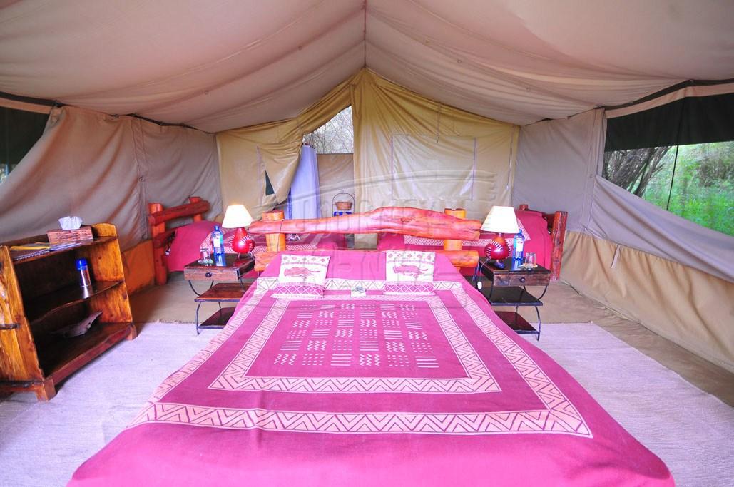 A luxurious tent at Kicheche Mara Camp