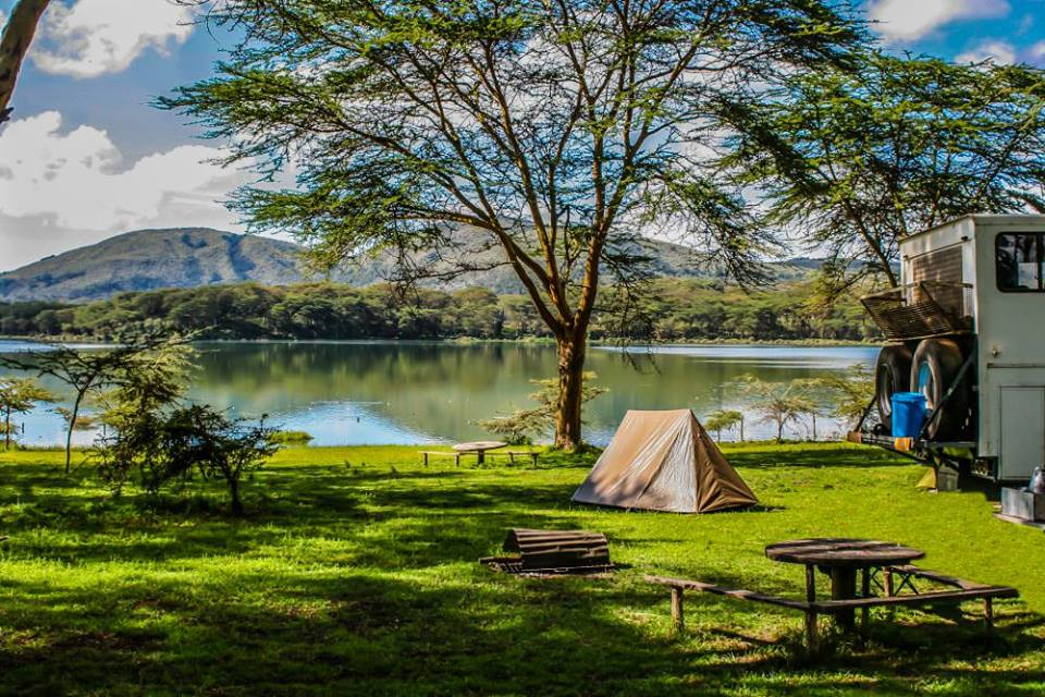 A serene campsite overlooking Lake Oloiden in Naivasha. Photo Credit: Lake Oloiden Camp