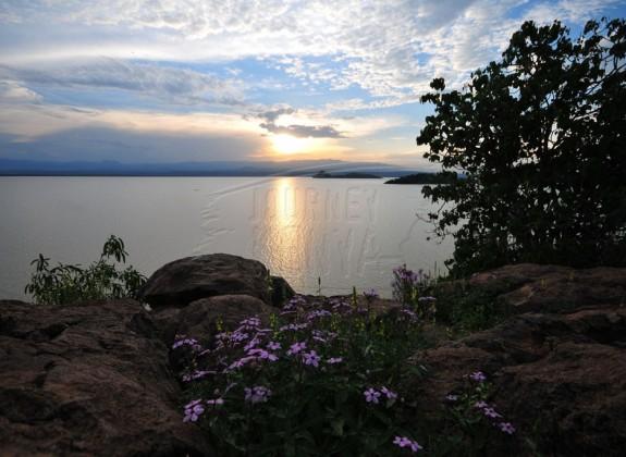 A stunning view of Lake Baringo from Ol Kokwe Island