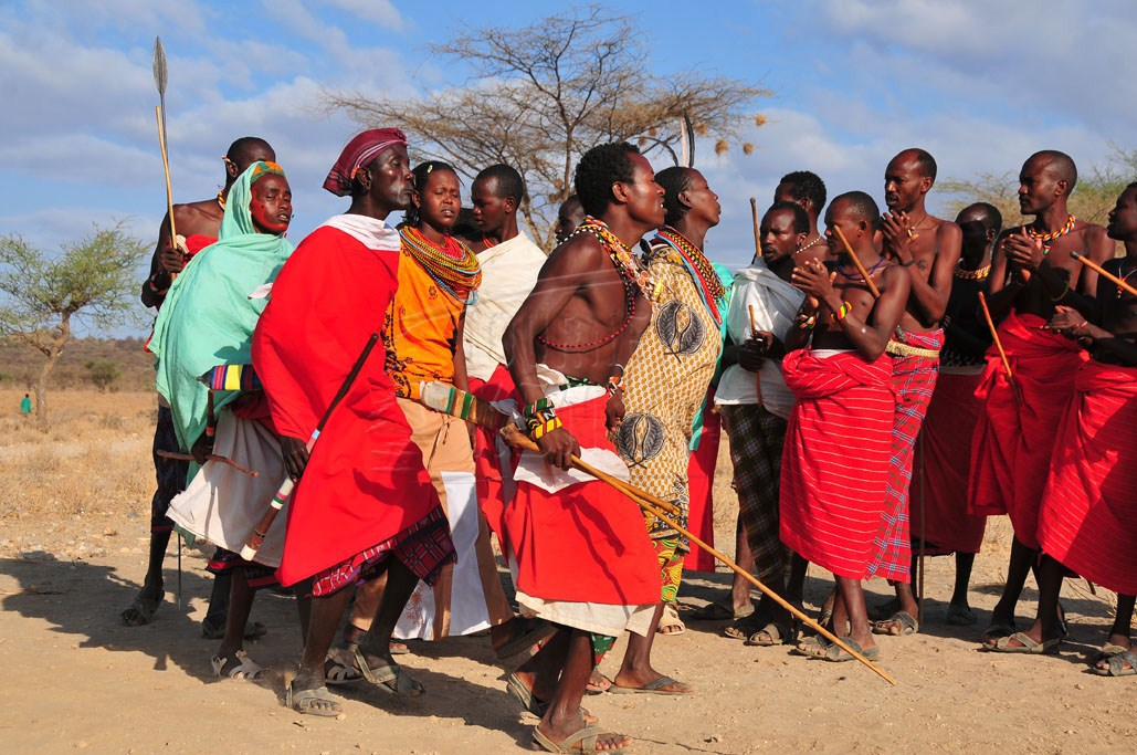Dancers from the Samburu cmmunity