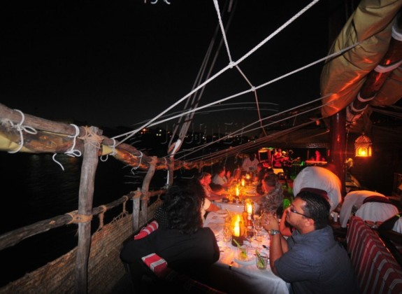 A night cruise at the Tamarind Dhow